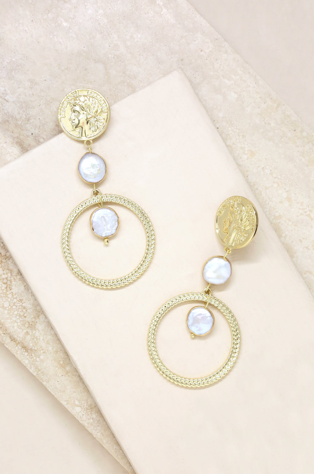 'Your Majesty' Coin Drop Earrings
