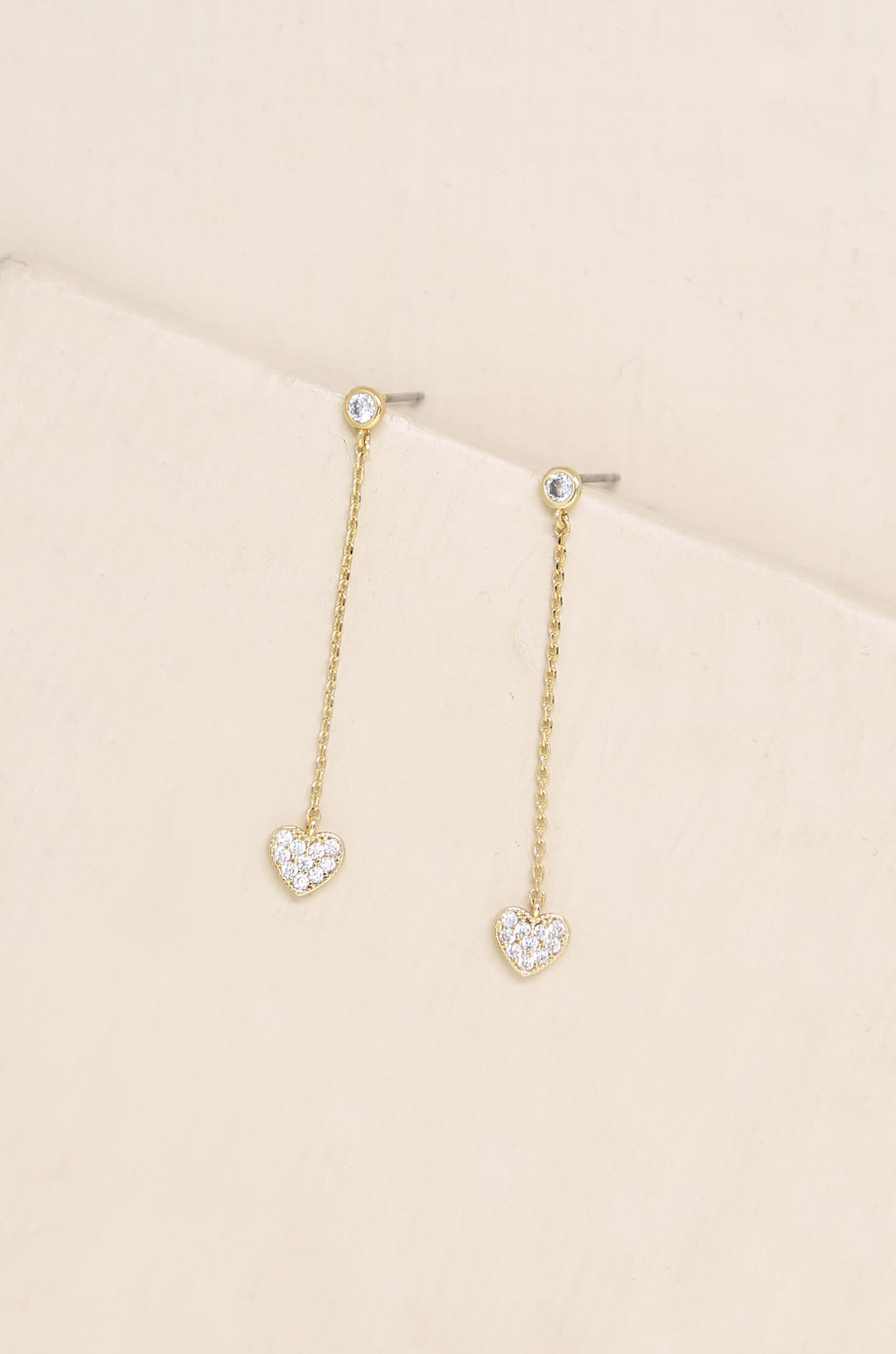 'Lots of Love' Chain & Heart Drop Studs