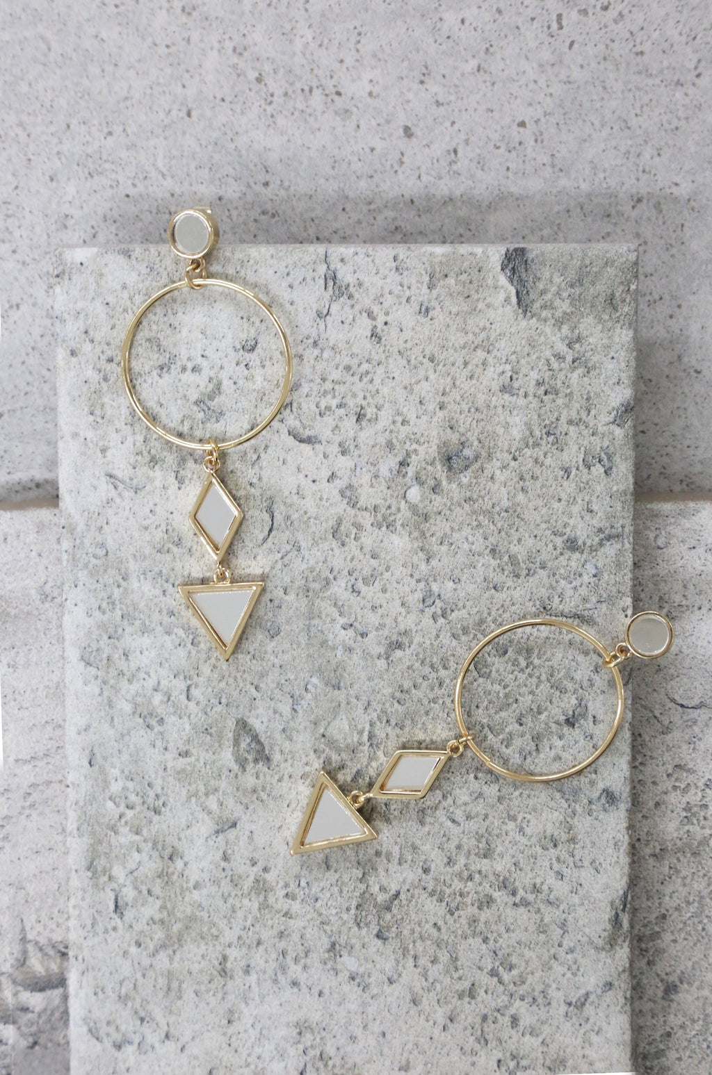 18kt Gold Plated 'Divine Shapes' Earrings