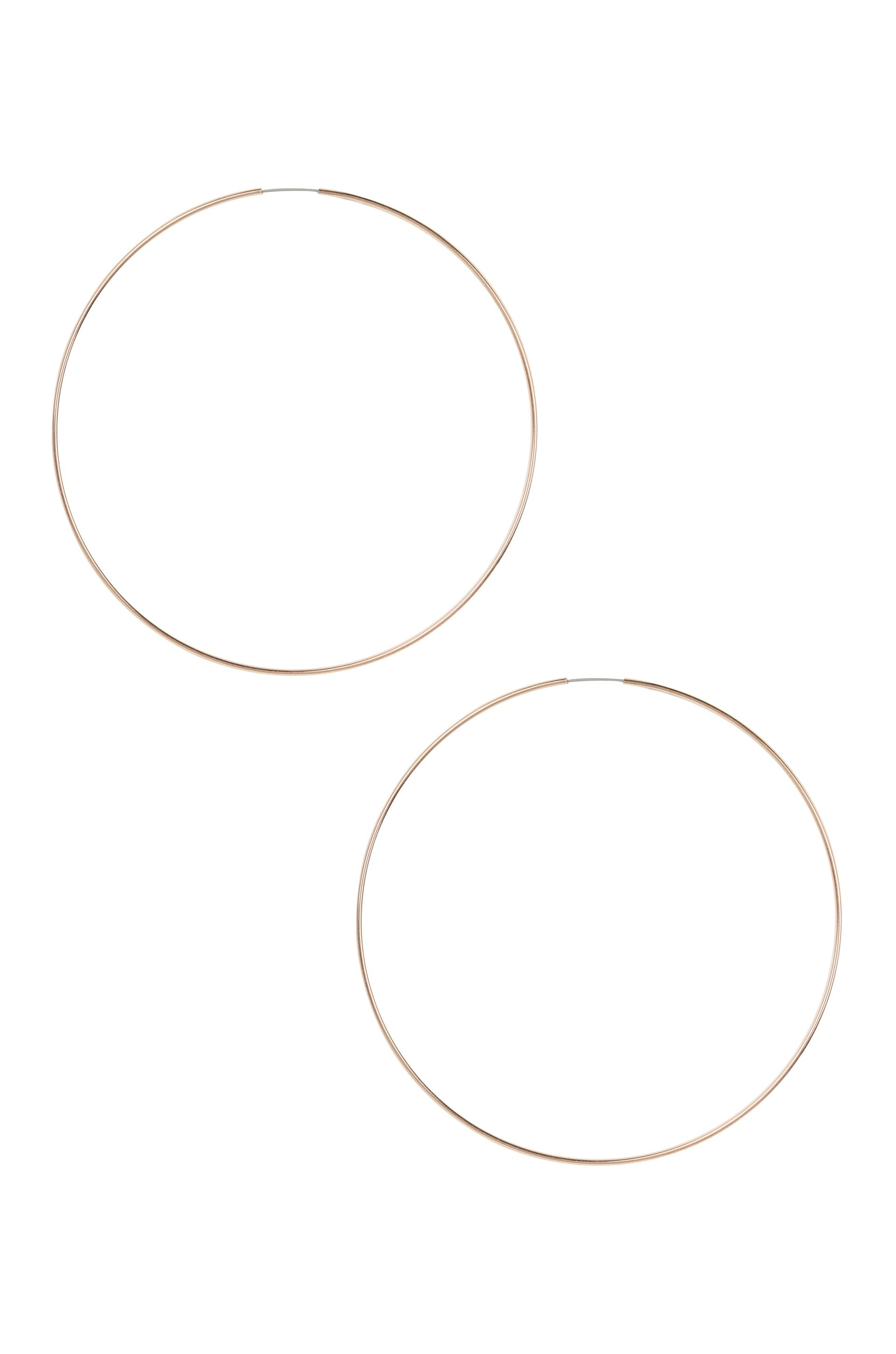 Sass Hoops in Rose Gold - Large