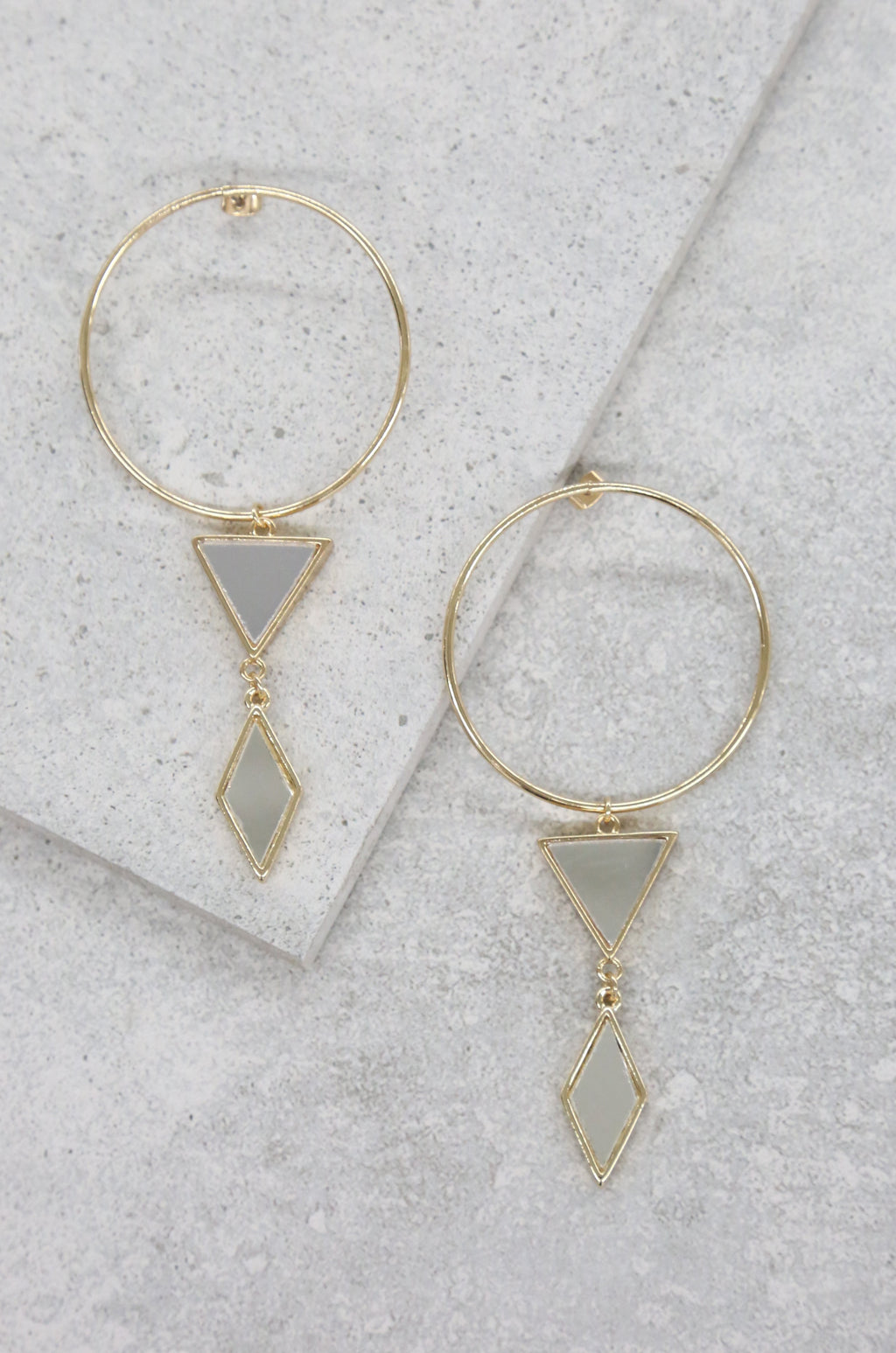 18kt Gold Plated Gilded Geometry Earrings