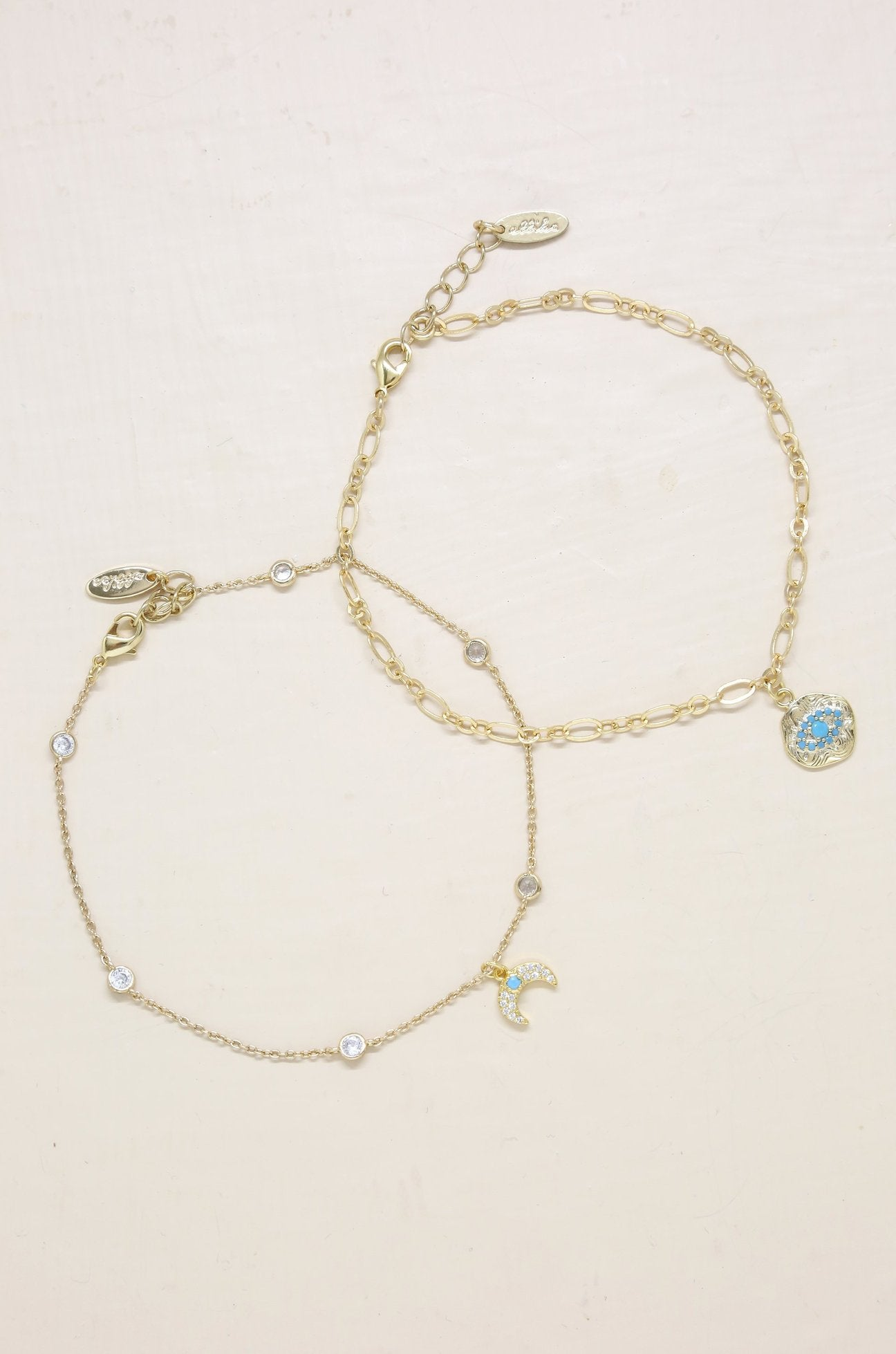 'Into the Blue' Third Eye and Crystal Horn Anklet