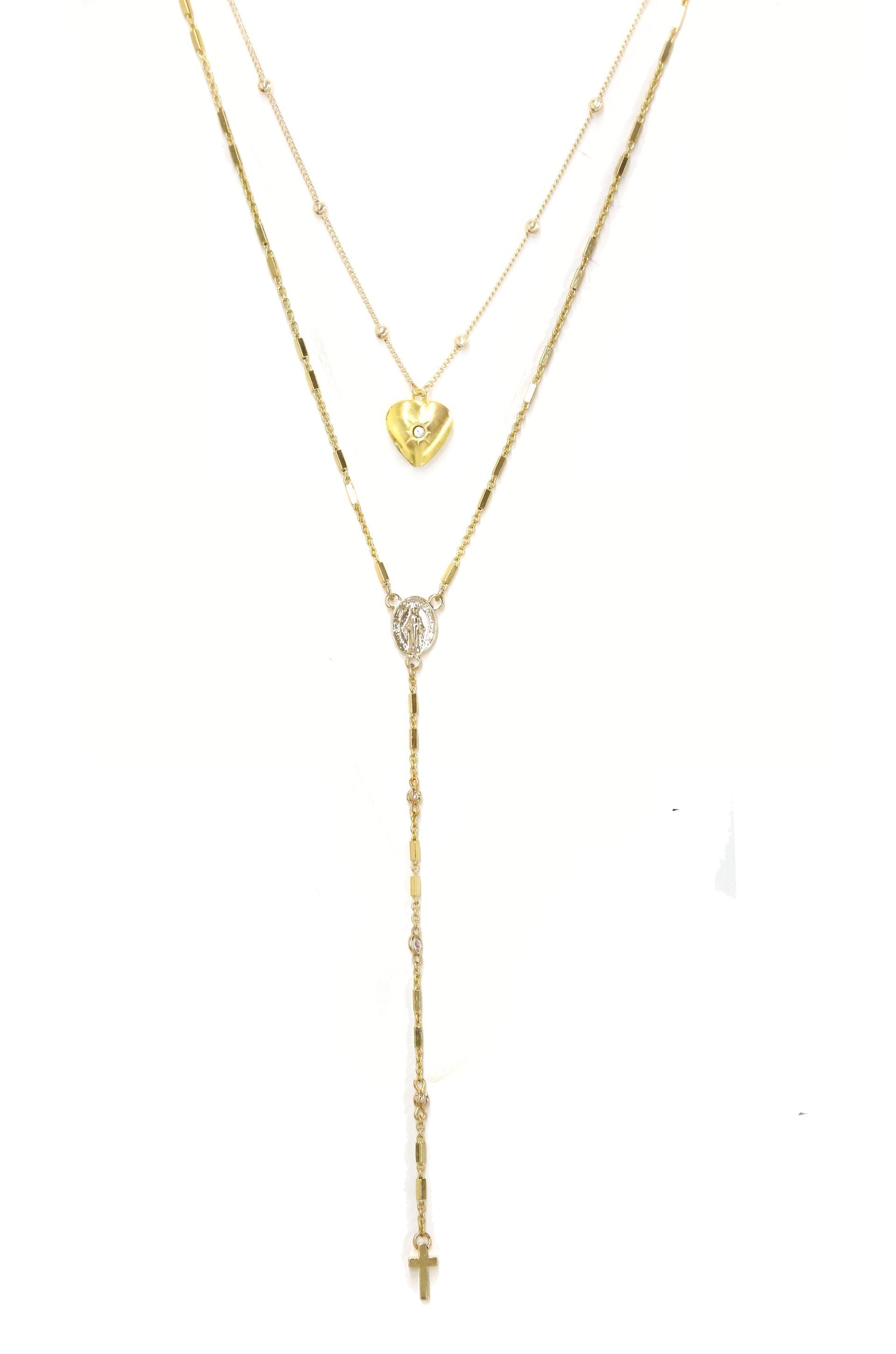 2 pc 'Precious Keepsake' 18kt Gold Plated Necklace Set