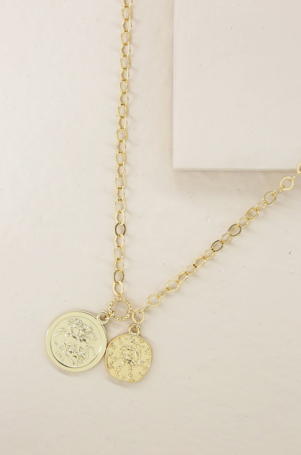 'The Adventurer' Double Gold Coin Necklace
