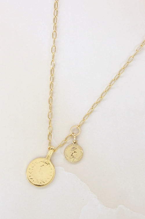 'Simplicity' Coin & Chain Necklace
