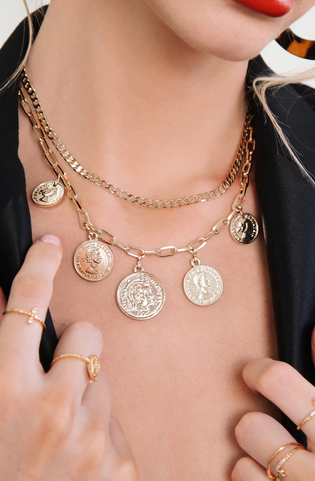 'All About the Coin' 18kt Gold Layered Necklace