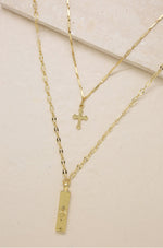 'Your Highness Cross' 18kt Gold Necklace