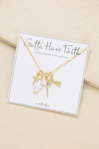 'Gotta Have Faith' Interchangeable Charm Necklace