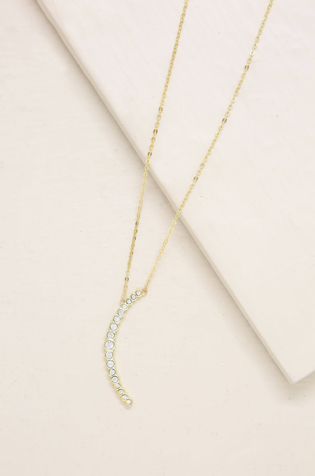 Waning Crystal 'Crescent Moon' Necklace