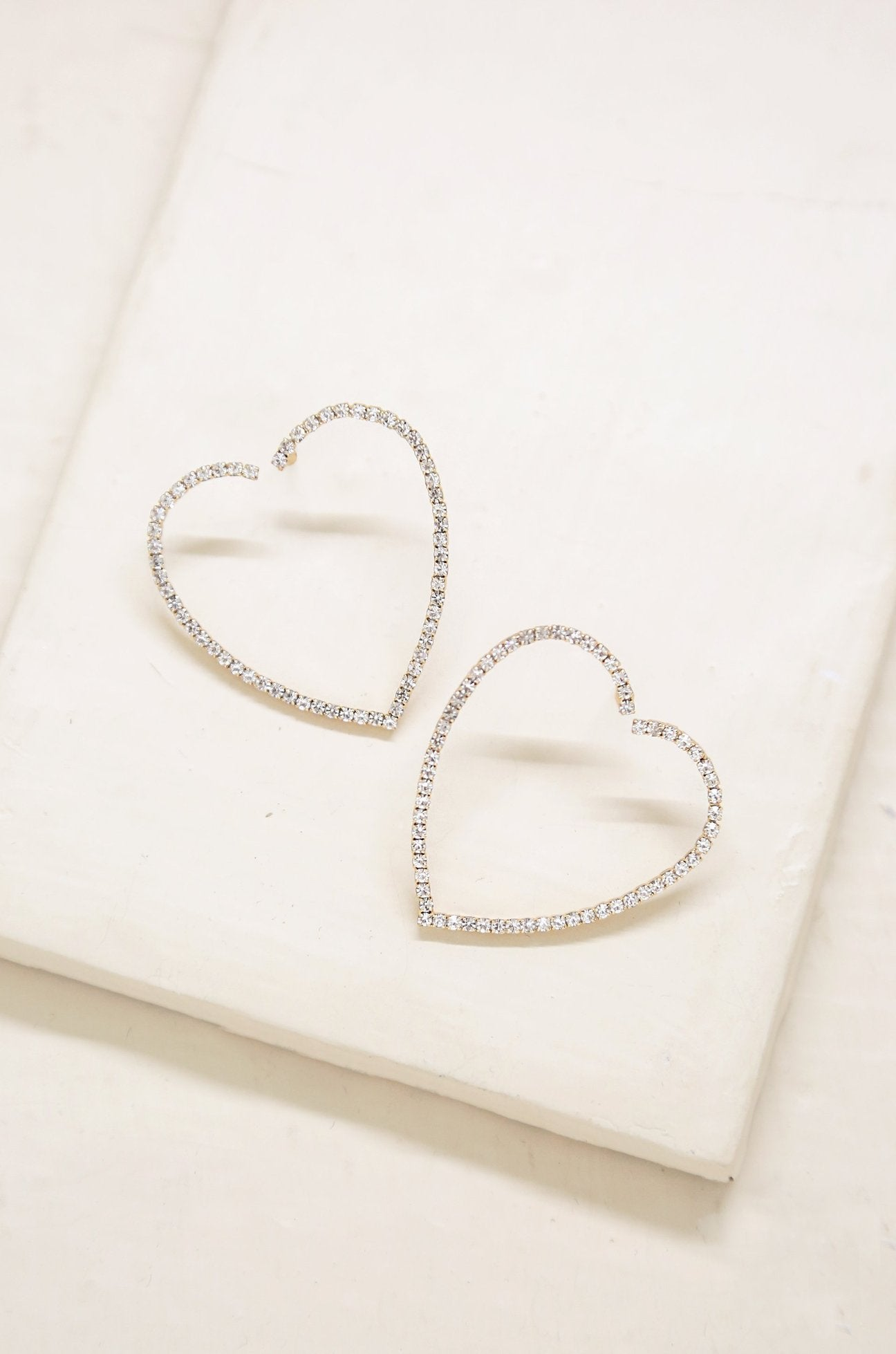 'Open Your Heart' Crystal Hoop Earrings