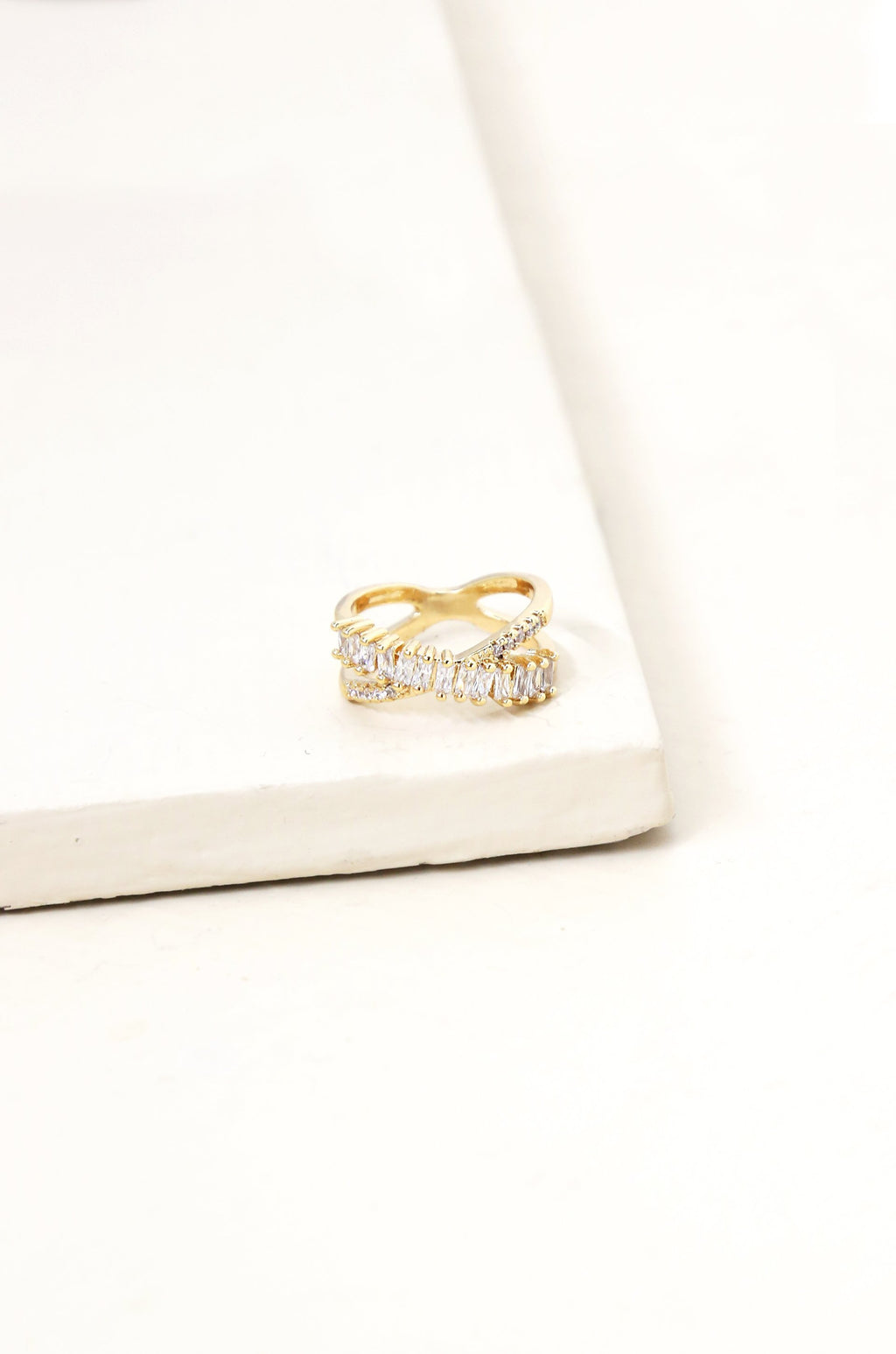 Crystal Baguette Eternity Ring
