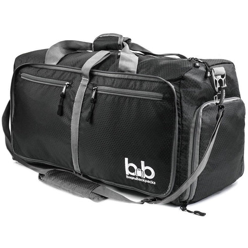 B&B 60L Medium Collapsible Duffle Bag with Pockets by Travel Pact