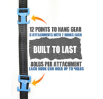 Simple Set Up Lightweight Gear Hanging Pack Strap - Travel Pact