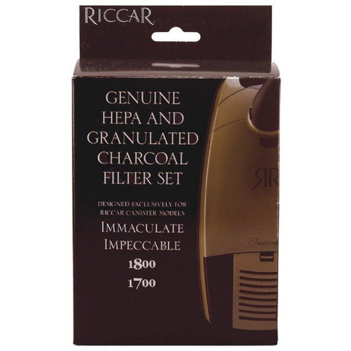 Riccar RF17G Genuine HEPA and Granulated Charcoal Filter Set for Immaculate Impeccable 1800 1700