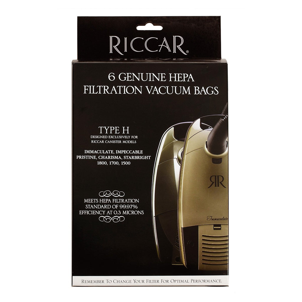 Riccar Type: H Genuine Filtration HEPA Bags For Canisters