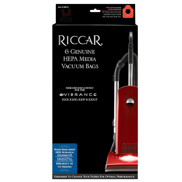 Riccar Type M Genuine Filtration Hepa Bags For R20