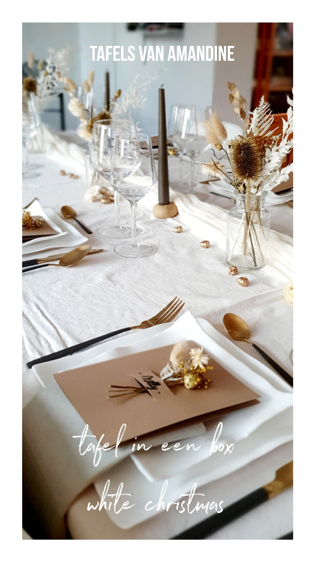 Tafel in box WHITE CHRISTMAS