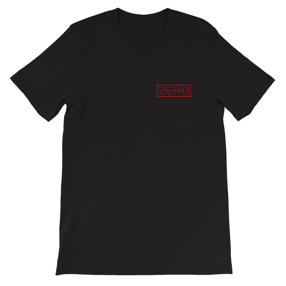 Original ZERO Red on Black T-shirt