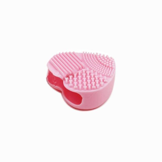 Colorful Heart Shape Clean Make up Brushes