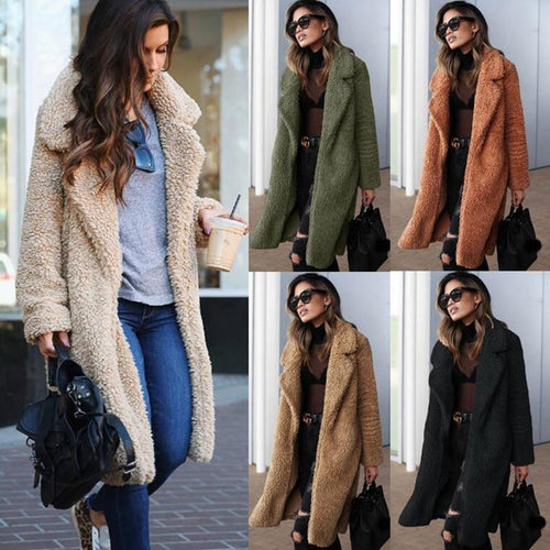 New Fashion Wool Blend Coat Women
