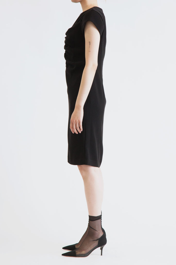 Front Shirring Dress