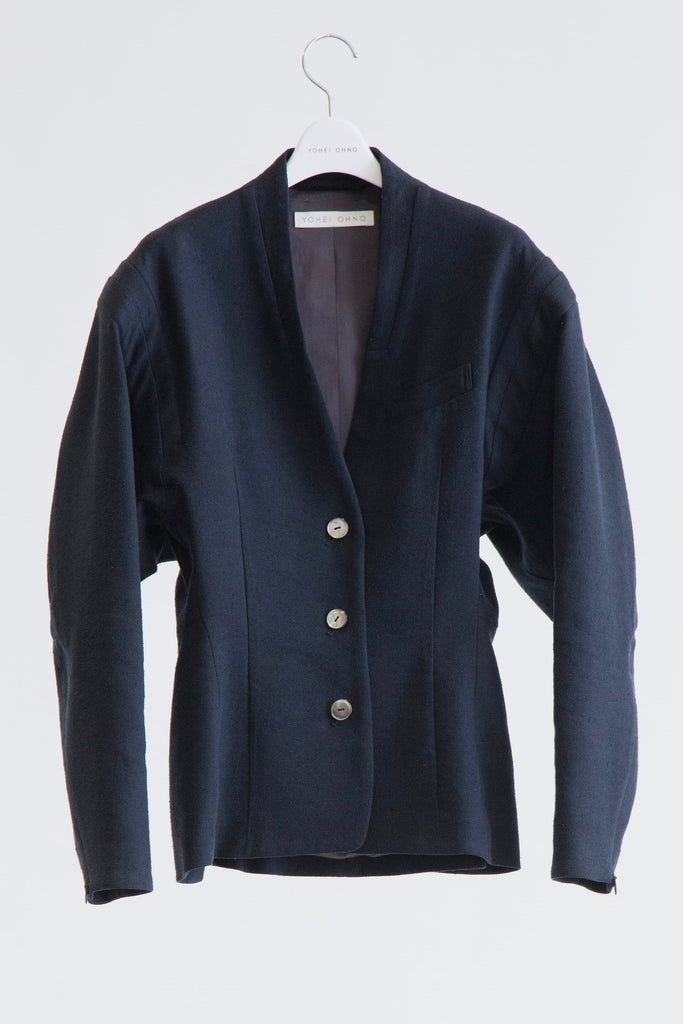 Silk/Linen Round Sleeve Jacket
