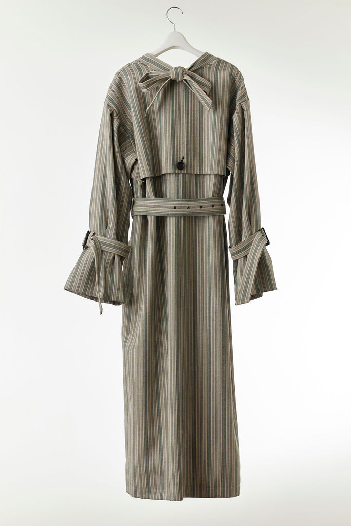 Back Ribbon Trench (Stripe)