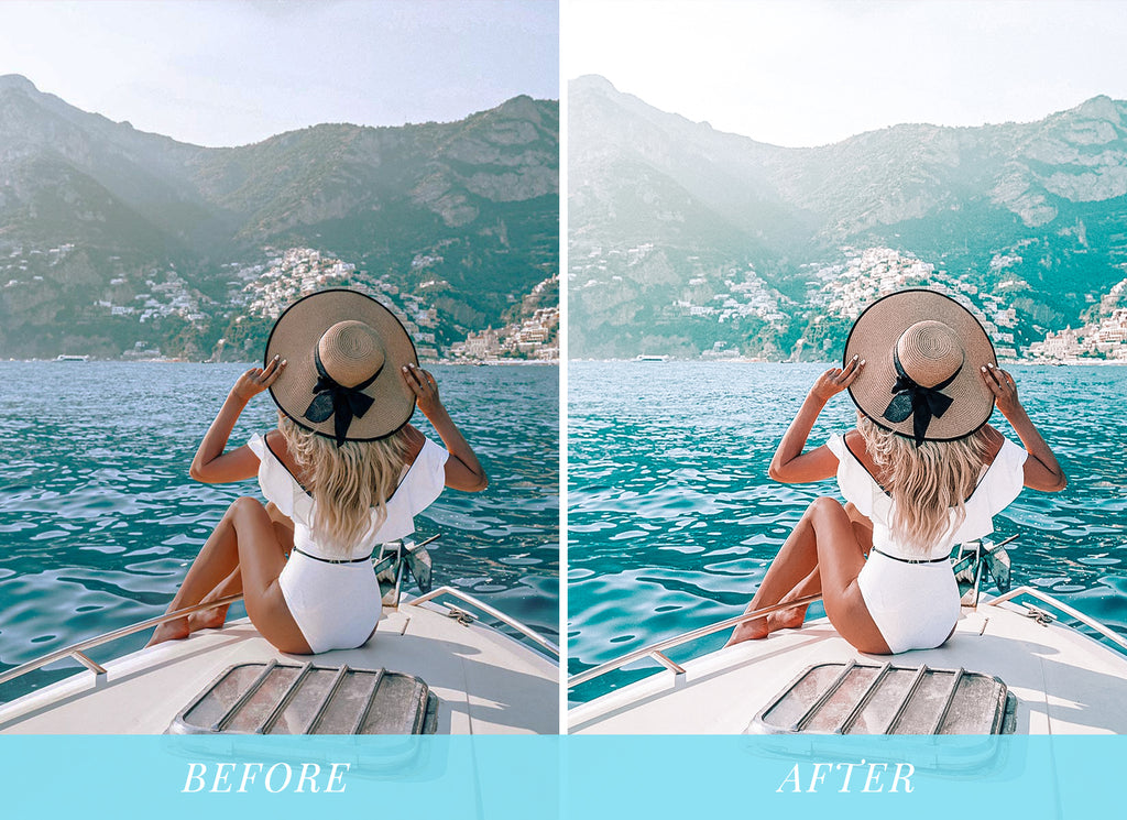 Summer vibes lightroom presets beach