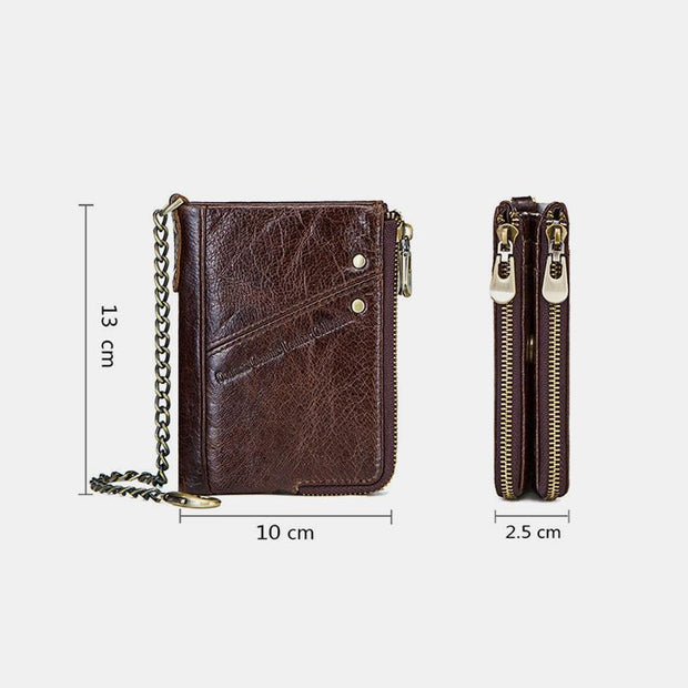 Casual RFID Multifunctional Wallet With Chain