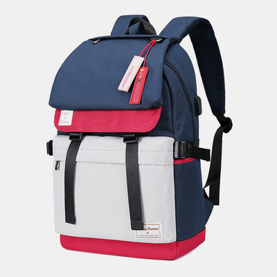 Multi-Compartment Waterproof Anti-theft Nylon Backpack