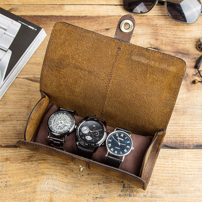 Unisex Vintage Roll Storage Bag for Watch