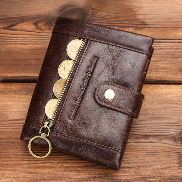 RFID Anti-Theft Multifunctional Genuine Leather Wallet