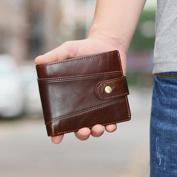 Multifunctional  Multi-Slot Retro Wallet For Men