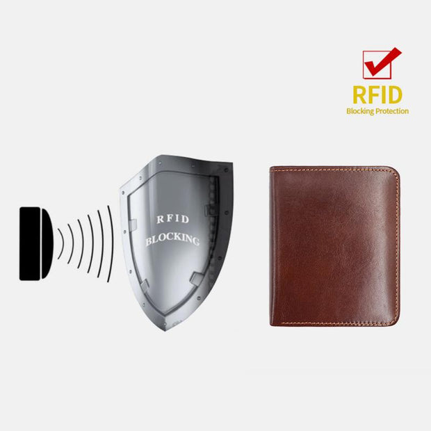 Slim Bifold RFID Blocking Minimalist Wallets for Men