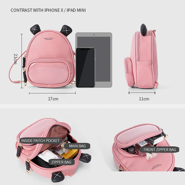 Multifunctional Small Bear Backpack