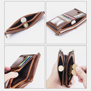 RFID Blocking Multi-Slot Leather Wallet