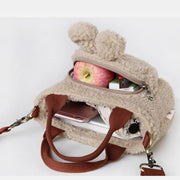 Cute Bunny Rabbit Plush Handbag Crossbody Bag
