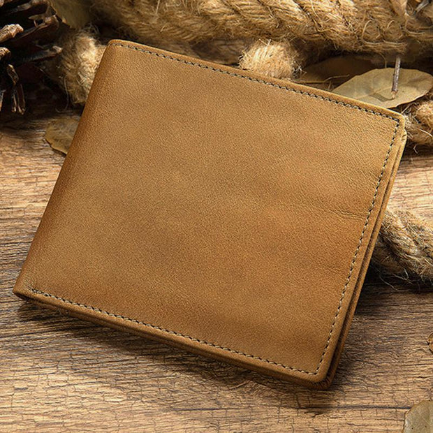 Large Capacity Genuine Leather Vintage Slim Wallet