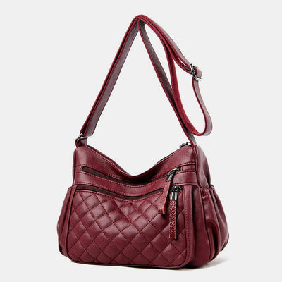 Large Capacity Leather Crossbody Bag