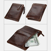RFID Crazy Horse Leather Wallet
