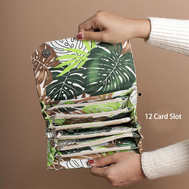 Casual Multifunctional Printing Wallet