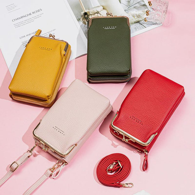 Multifunctional Kiss-Lock Crossbody Phone Bag(Buy 2 Get 15% Off,CODE:B2)