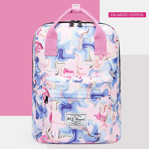 Multicolor Printed Large Capacity Vintage Backpack