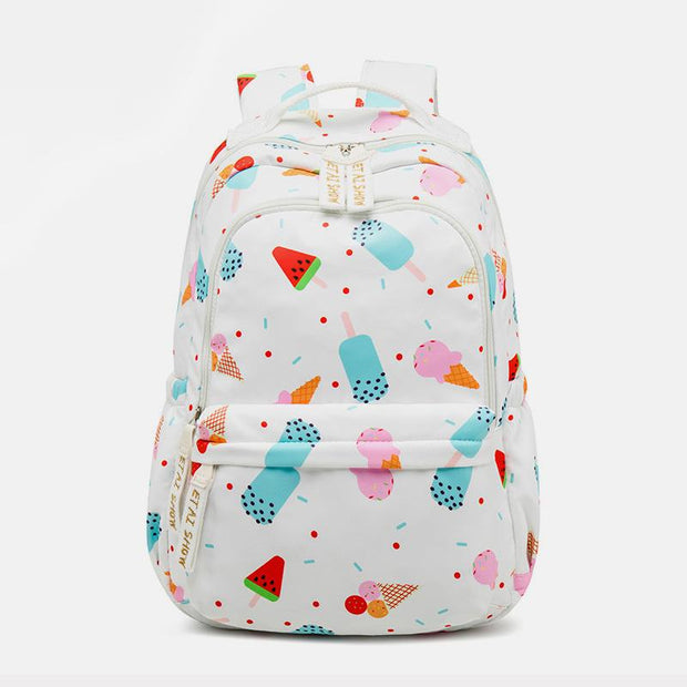 Large Capacity Water-resistant Cute Printed School Backpack