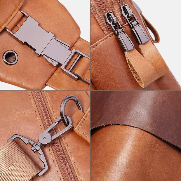 Vintage Genuine Leather Multi-function Sling Bag
