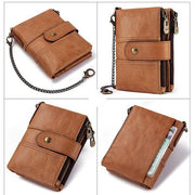 Genuine Leather Anti-theft Retro Wallet With Chain (Buy 2 Get 15% Off,CODE:B2)