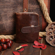 Vintage Genuine Leather Small Wallet