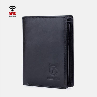 RFID Bifold Genuine Leather Multi-Slot Wallet