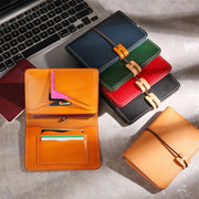 Real Leather Multifunctional Vintage Passport Holder Card Case