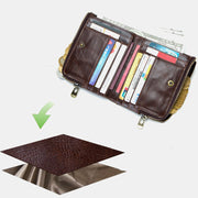 RFID Anti-theft Multi-slot Bifold Wallet with Chain